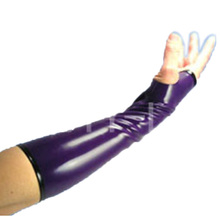 Latex nice gloves mittens fingers out fetish unisex sexy plu