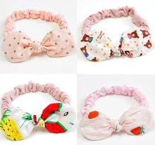 Kids Girls Rabbit Ear Headband Headwear Knot Kids Hair Accessoire Turban Fruit Handmade Hairband Head Wraps for Baby Girl FD25 цена в Москве и Питере