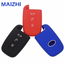 maizhi 3 Buttons Silicone Car Key Case  For Hyundai Solaris HB20 Veloster SR IX35 Accent Elantra i30 Smart Key No Logo