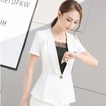 Plus Size 4XL Summer Short Sleeve Formal OL Styles Blazer font b Coat b font For