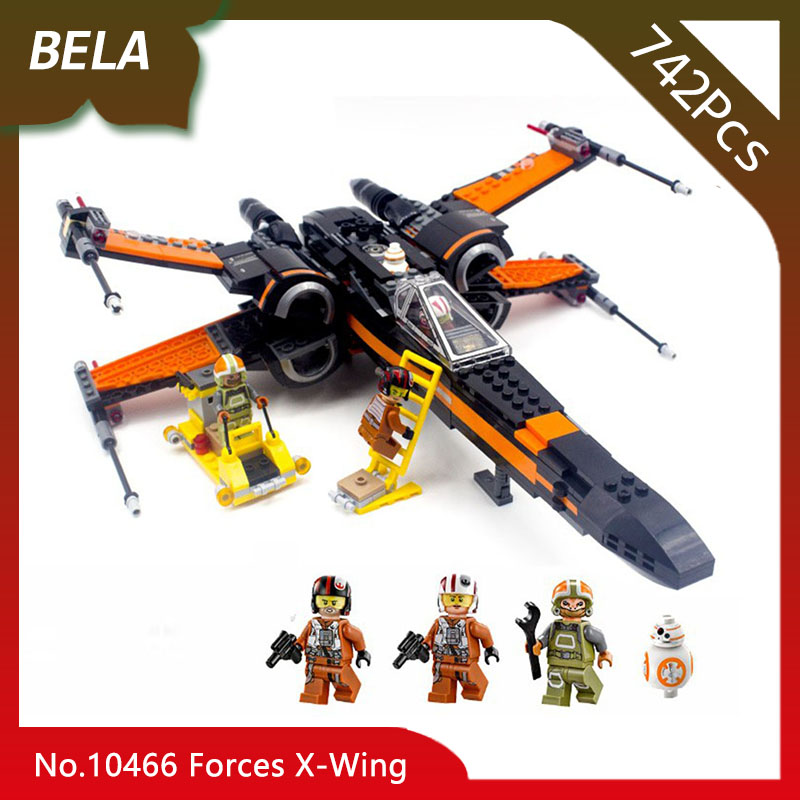Bela 10466 742pcs Star Series Wars Special Forces Poes X-Wing Building Blocks Kids Favourite Toys Compatible 05004 For Children