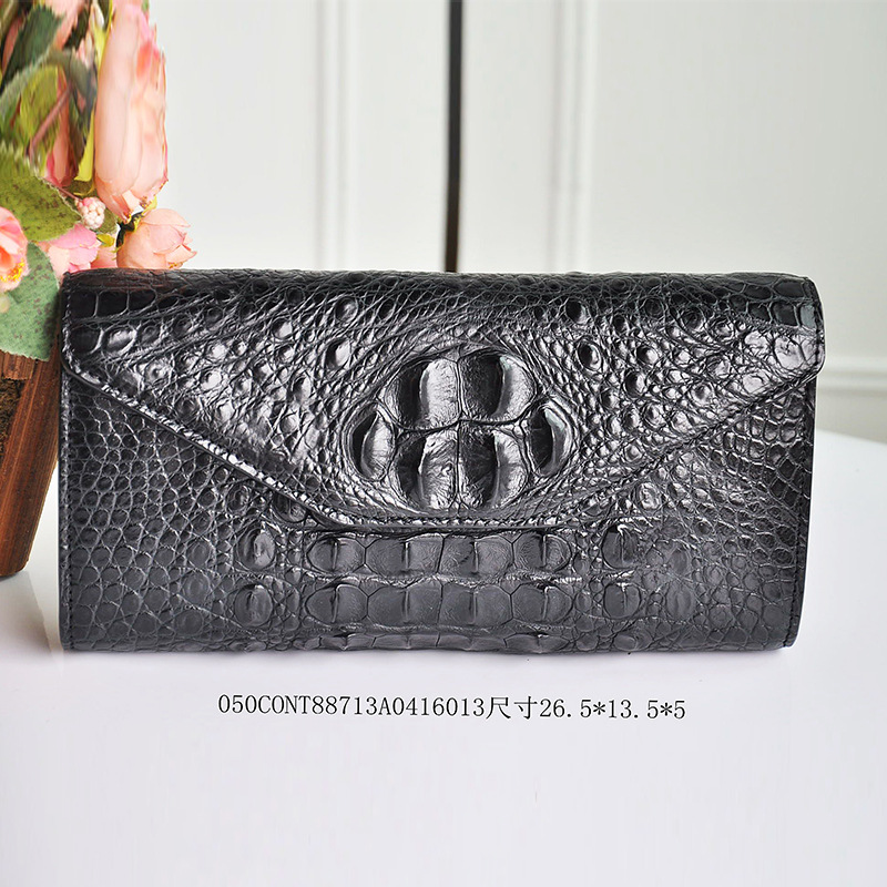 2017 New Sale 100%Handwork Crocodile Women Long Wallet High Quality Luxury Brand Design Noble Famale Fashion Nature Style Purse 100% brand new and high quality student macaron bow serie fashion change purse ap3