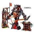 2017 Новый ninjagoeinglys. Рассвет Iron Doom мех робот строительный блок ниндзя Ллойд Джей кирпичи lepins совместимость lego70626 игрушки