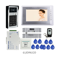 FREE SHIPPING 7″ TFT Monitor Video Door Phone Intercom System RFID Keypad Code Touch Doorbell Camera + Electric Drop Bolt Lock