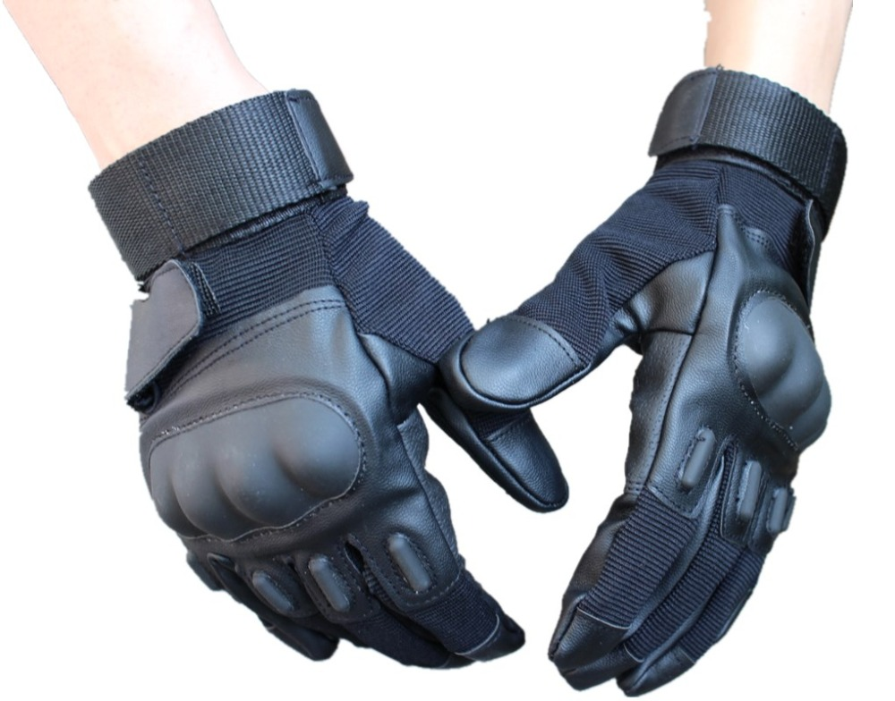 Free shipping new sale Full finger Tactical Shooting Military mens hunting Camping Sport Outdoor Game Gloves black color