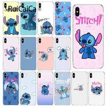 Ruicaica cute cartoon Lilo Stitch Luxury Unique Design Phone Cover for iPhone 6S 6plus 7 7plus 8 8Plus X Xs MAX 5 5S XR
