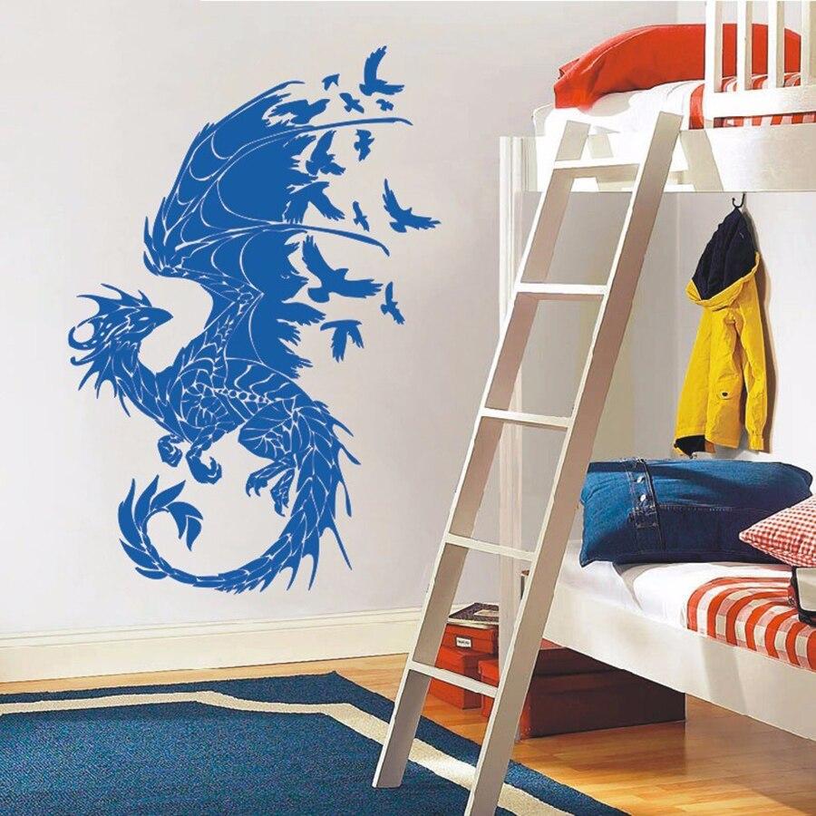 ASAPFOR Dragon Birds Fantasy Fairytale Gothic Wall Decals - Үйдің декоры - фото 4