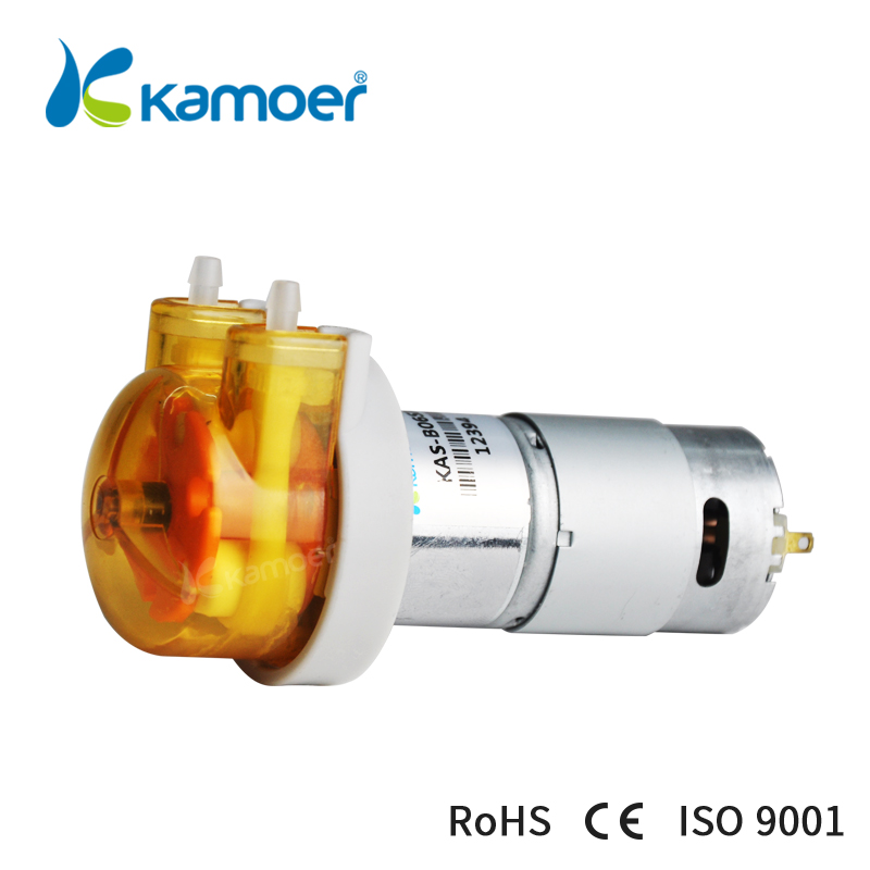 Kamoer KAS Peristaltic Pump 12V/24V DC Motor Water Pump, Small, For Lab, Food&Beverage, Dosing Pump kamoer 2018 the newest cost effective dc motor water pump khs peristaltic pump with silicone tubings