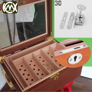 Image 1 - 10pcs KIMXIN spot sales Silver High grade woodenbox lock Jewelrybox hardware accessories Lock for Cigarbox gift box  W 018