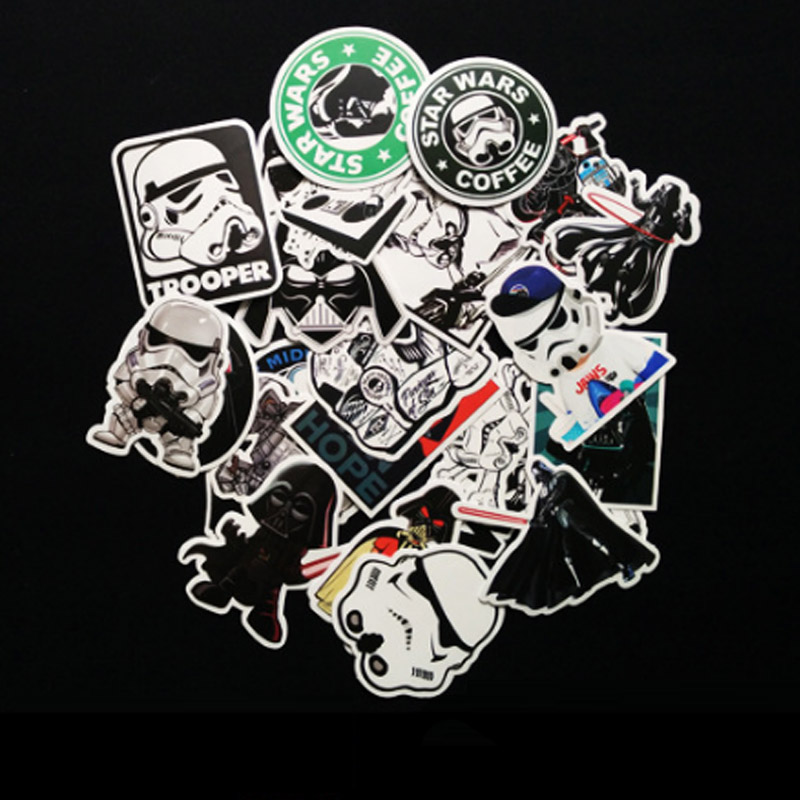 25 kinds Star Wars waterpoof fuel cap creative sticker for Skateboard Laptop Luggage Fridge Phone Styling