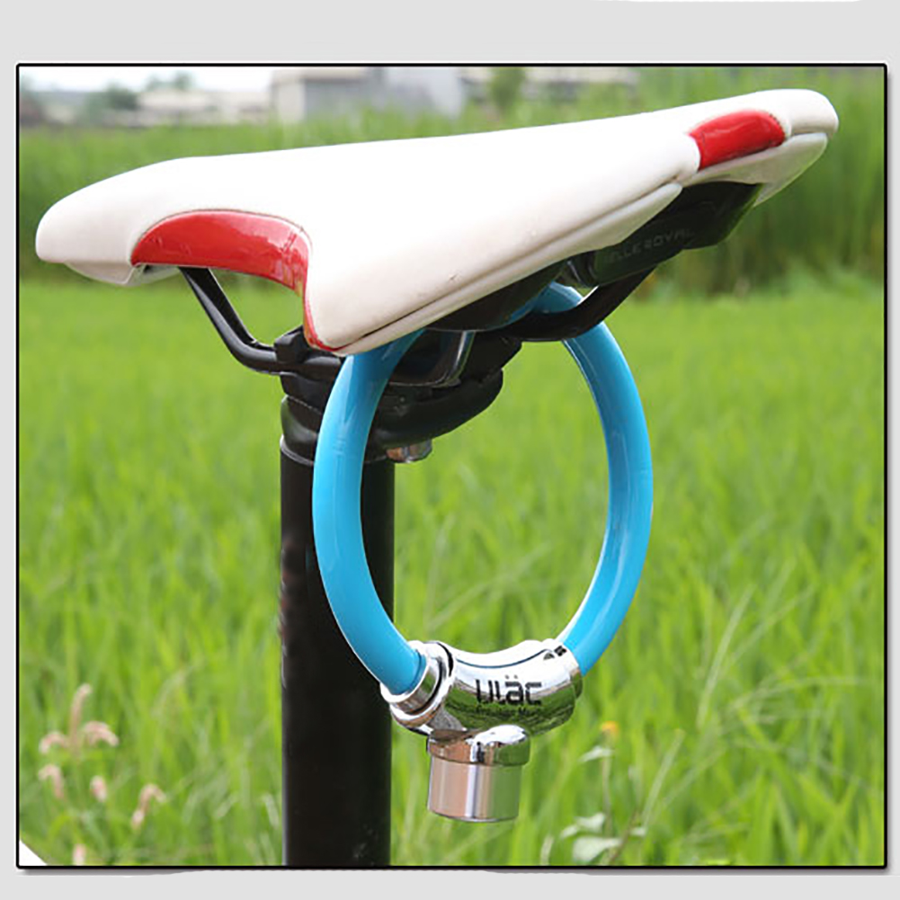 Cycling Motorcycle Protection Portable PVC Bicycle Lock With 2 Keys Anti-theft Outdoor Universal Mini Safety Ring Accessories