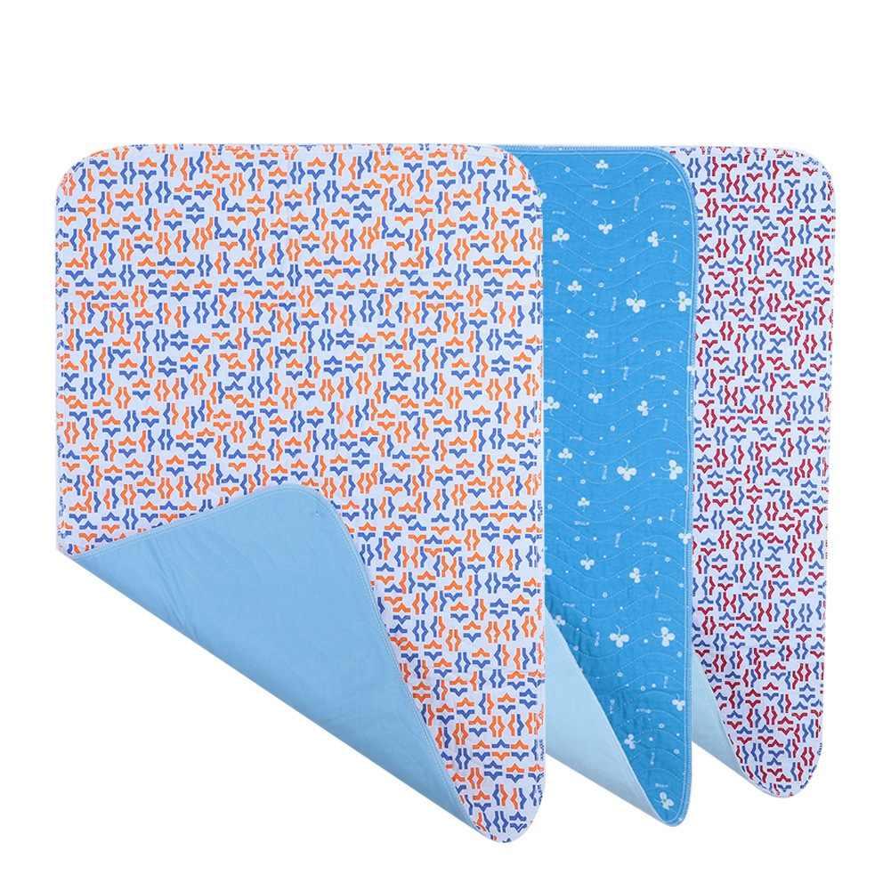 3 色尿マット再利用可能な大人のおむつインサートライナー布ベビーおむつおむつパッド洗える厚み長老失禁尿マット