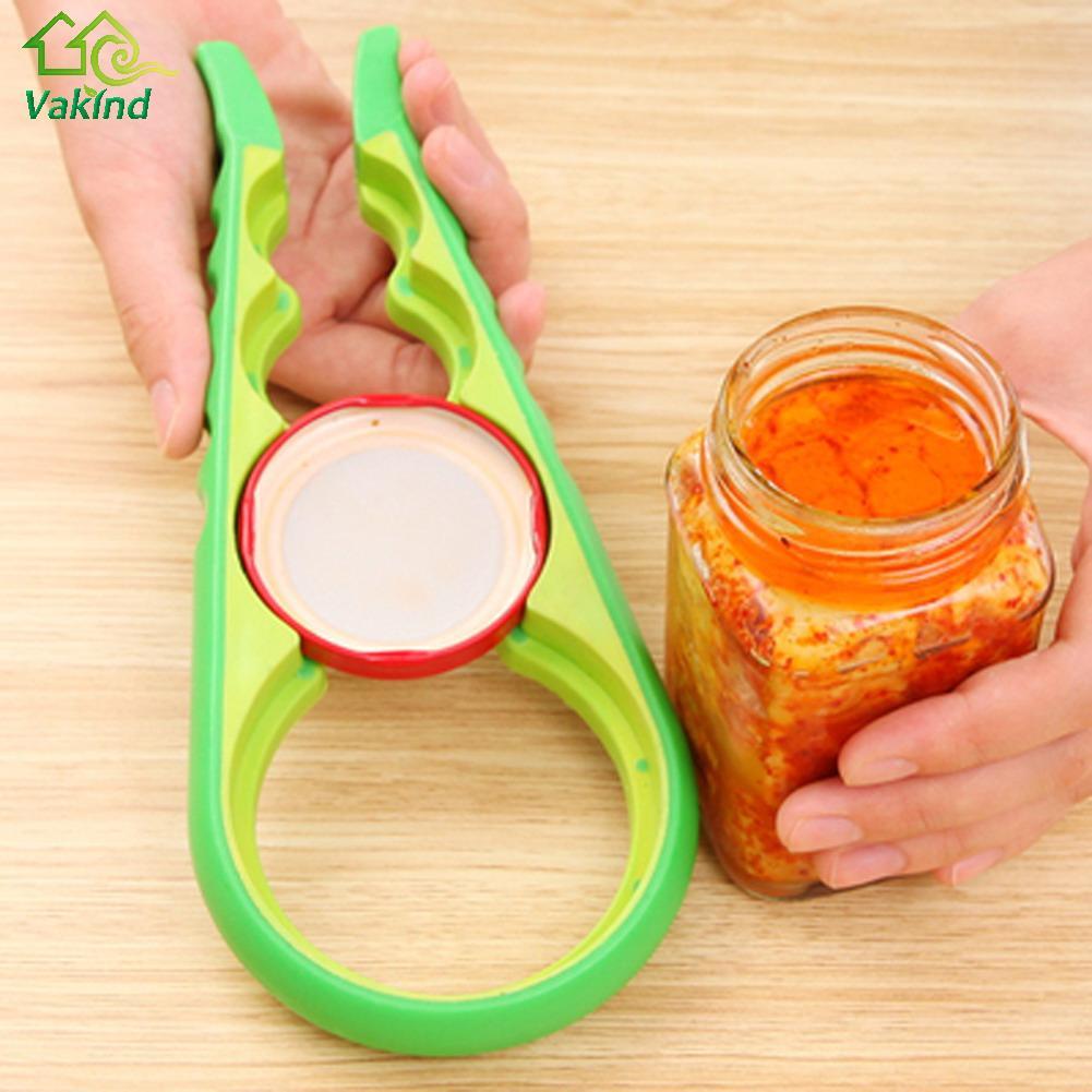 Jar Opener 4 In 1 Gourd-shaped Can Opener Multi Purpose Screw Cap Jar Openers Bottle Lid Grip Wrench Kitchen Accessories
