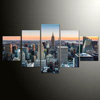 5 Pcs/Set Large Abstract City Sky Canvas Print Painting Modern Special Wall Art Picture Living Room Decor