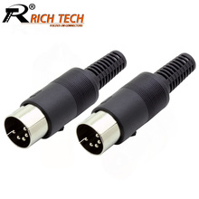 10pcs/lot 5 Pin DIN Male Connector 5 Pin DIN Plug Jack with Plastic Handle Keybo