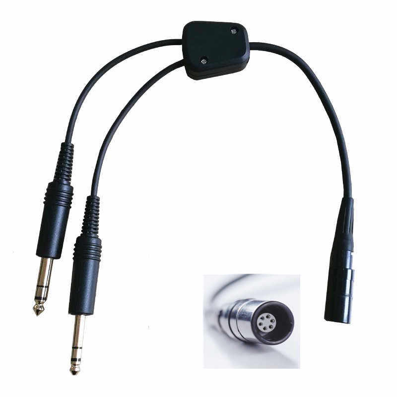 d9c380d9591 ... Bose A20 Lemo 6 pin to general aviation twin plugs adapter aviation  headset