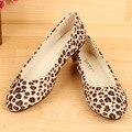 2016 женщин плоские туфли больших размеров 35 - 42 леопарда обувь SapatoZapatos Mujer