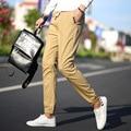 Marca ropa de Hombre 2016 Otoño pantalones Masculinos Pantalones Harem del Algodón de Bolsillo Casual Mens Joggers Pantalones Sólidos Para Hombres