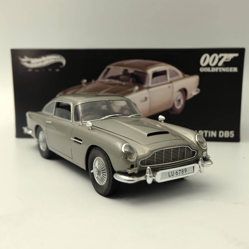 Marvelous Hotwheels ELITE 1:18 Aston Martin DB5 Goldfinger 007 JAMES BOND BLY20  Diecast Toys Car Models Limited Edition