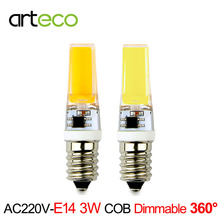 E14 LED Lamp AC220V 3W COB Dimmable LED Bulb 300LM Silicon Gel E14 LED Spotlight Replace Halogen Lamp Chandelier Crystal Light