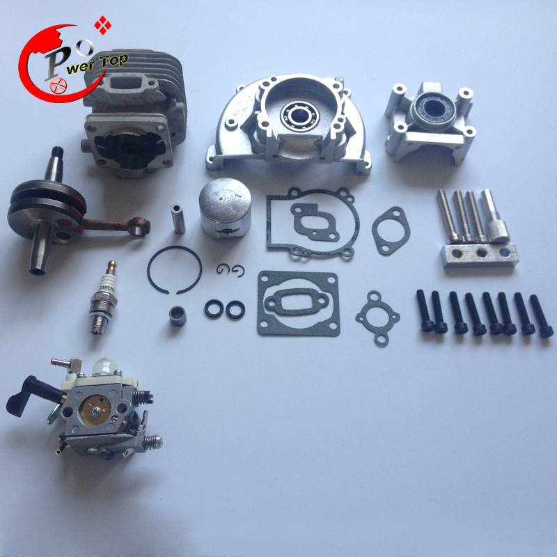 rovan engine 30.5CC 4 bolt kit (With 30.5cc cylinder+4 hole crankcase+Rui Xing carburettor) for HPI baja 5B Parts King Motor 38mm engine housing cylinder piston crankcase kit fit husqvarna 137 142 chaisnaw