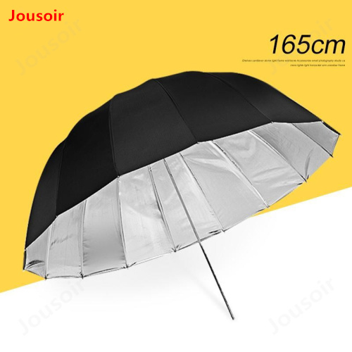 65inch (165cm) Parabolic Umbrella Professional Black with inner silver Umbrella Reflector for Strobe Speedlight CD15