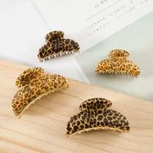 Женский леопардовый зажим для волос Вспомогательный 3 размера
