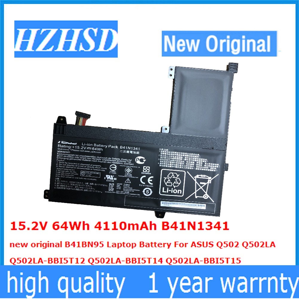 15.2V 64Wh 4110mAh B41N1341 New Original B41BN95 Laptop Battery For ASUS Q502 Q502LA Q502LA-BBI5T12 Q502LA-BBI5T14 Q502LA-BBI5