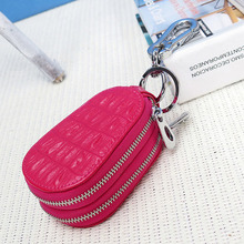 High Quality Key Wallets Fashion Casual Car And Home Bags Genuine Leather Hardwear Durable Double Zipper Design Waist