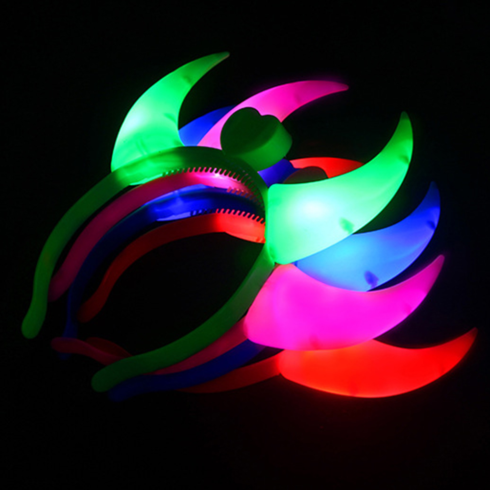 Corno del diavolo Head Band Party Dance holiday light Luminoso night - Illuminazione festiva
