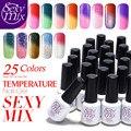 Sexy Mix 2016 Hot Sale 7ml Nail Gel Polish Temperature Thermal Color Changing Nail Lacquer Soak off UV/LED Gel Nail Polish