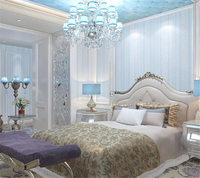 Modern 3D Striped Wallpaper European Luxury Bedroom Embossed Wallpaper Living Room TV Background Wall Wallpaper Roll