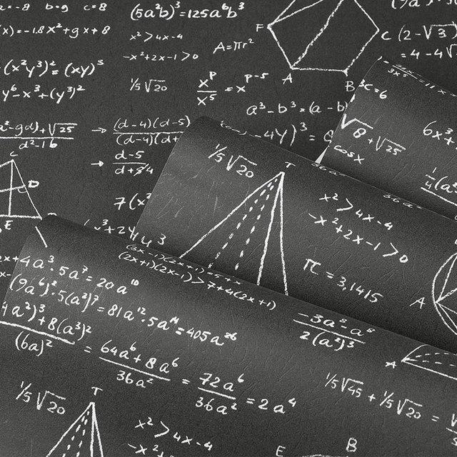 Modern Personality Graffiti Blackboard Formula Geometric Poster Alphabet Wallpaper Cafe Background