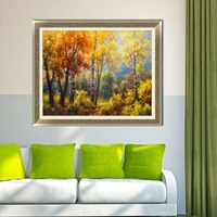 Canvas painting wall art picture print maple leaf forest on canvas no frame home decoration wall poster decoration living room