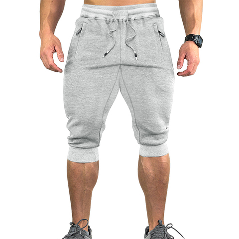 TACVASEN Sweatpants Sports Shorts For Men Gym Shorts With Pockets Sports Trousers Male Training Exercise Shorts Sportswear Karachi