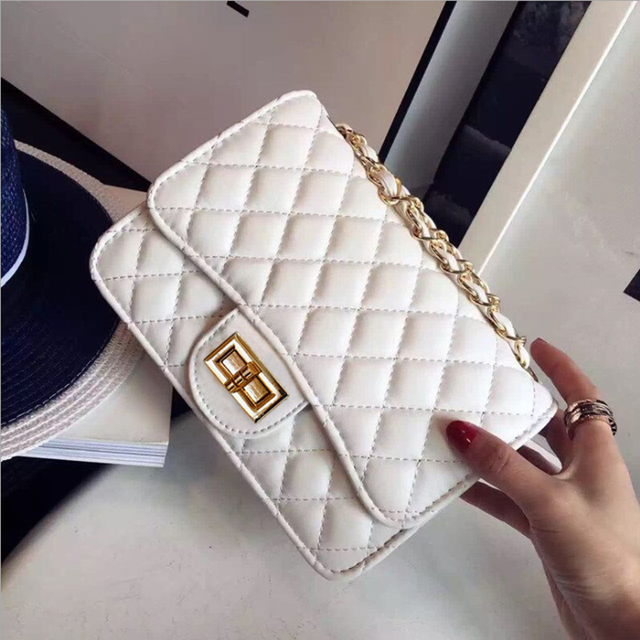 346438798c86 Luxury Handbags Women Bags Designer 2018 Vintage PU Leather Chain Messenger  Clutch Bag Small Shoulder Crossbody