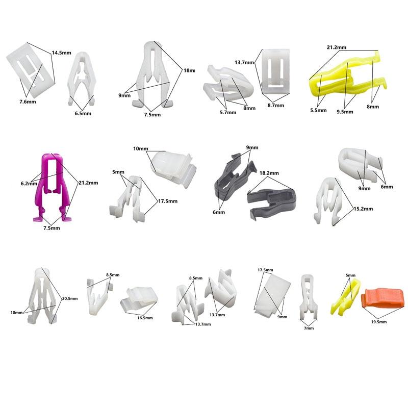 Смешанный авто бампер колеса брови крыло пластиковый крепеж винт заклепки для всех автомобилей Клип Набор