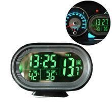 Автомобильный тестер напряжения панель инструмент цифровой монитор батарея будильник 2 цвета светодио дный подсветки температура Thermeter дисплей датчик