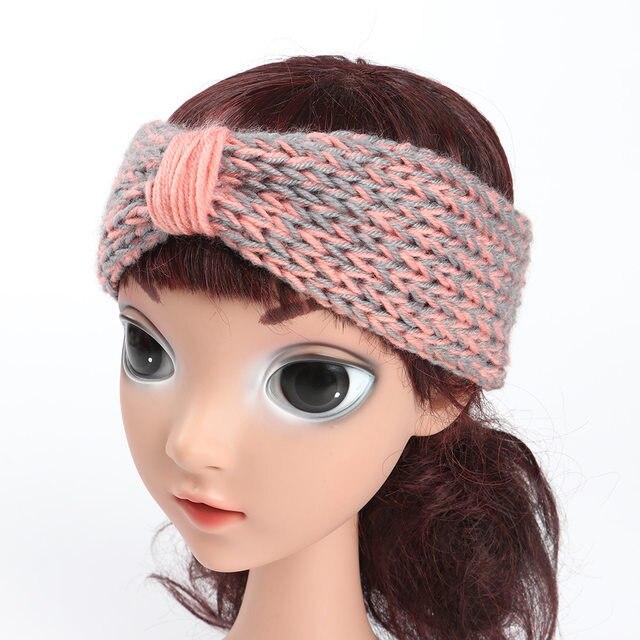 Tienda Online Niños Niñas knit crochet turbante Headband warm nudo ...