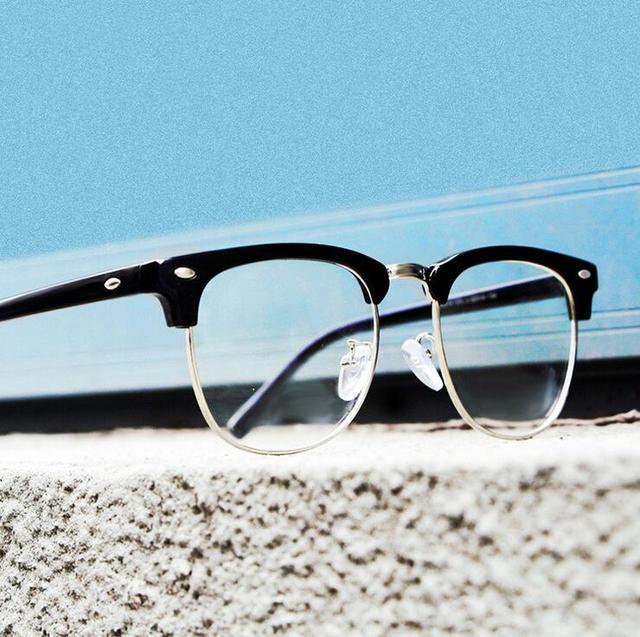 Half Frame Brand Design Eye Glasses Frames For Women Men Reading ...