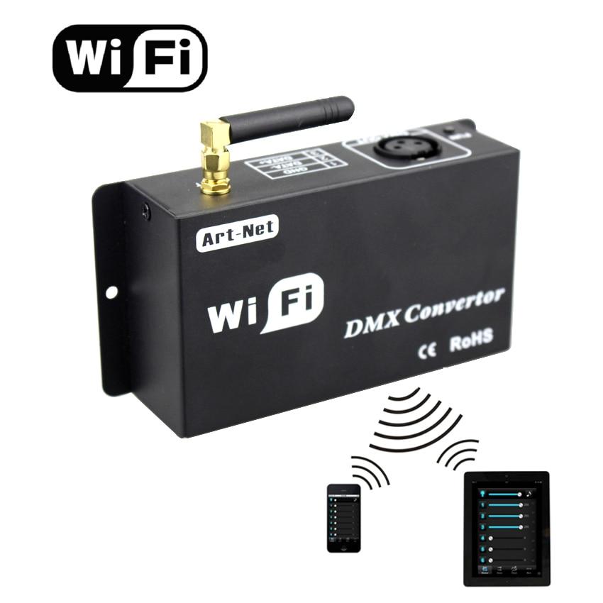 Led 12 v wifi led contrôleur dmx 512 contrôleur convertir wifi signal en signal dmx par IOS ou Android système contrôle led lampes