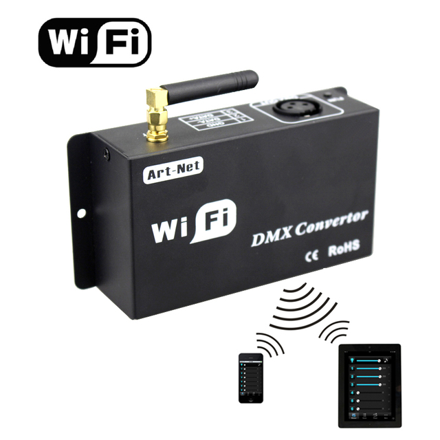 Led 12v wifi led controller dmx 512 controller converteren wifi signaal in dmx signaal door IOS of Android systeem controle led lampen