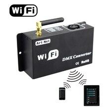 Led 12v wifi led 컨트롤러 dmx 512 컨트롤러 ios 또는 안 드 로이드 시스템 제어 led 램프에 의해 dmx 신호로 wifi 신호를 변환