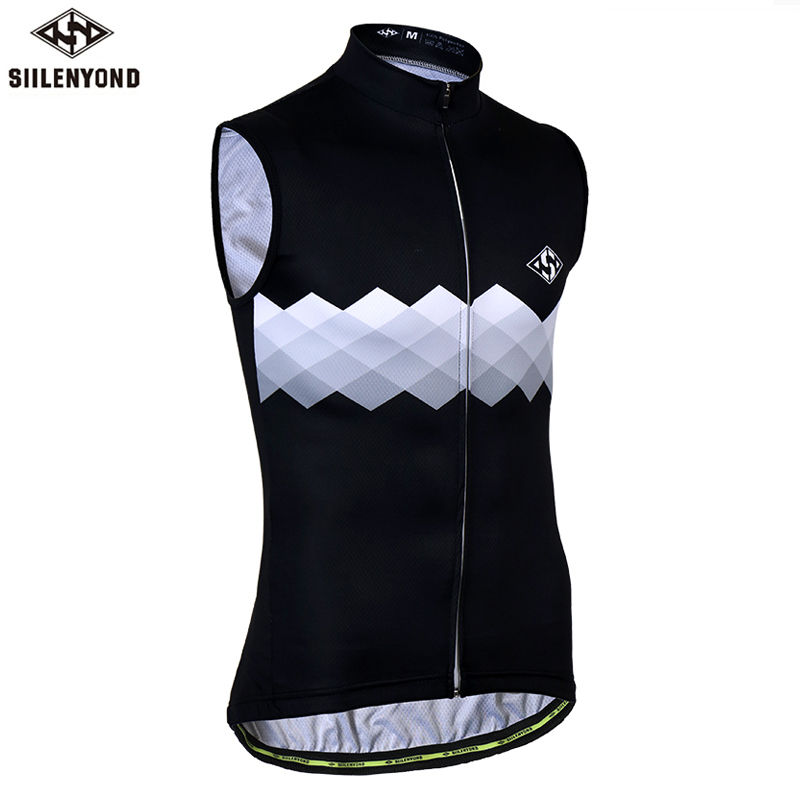 Siilenyond Pro Sleeveless Cycling Jersey Mountain Bicycle Cycling Vests MTB Bike Cycling Wear Quick Dry Summer Cycling Clothing