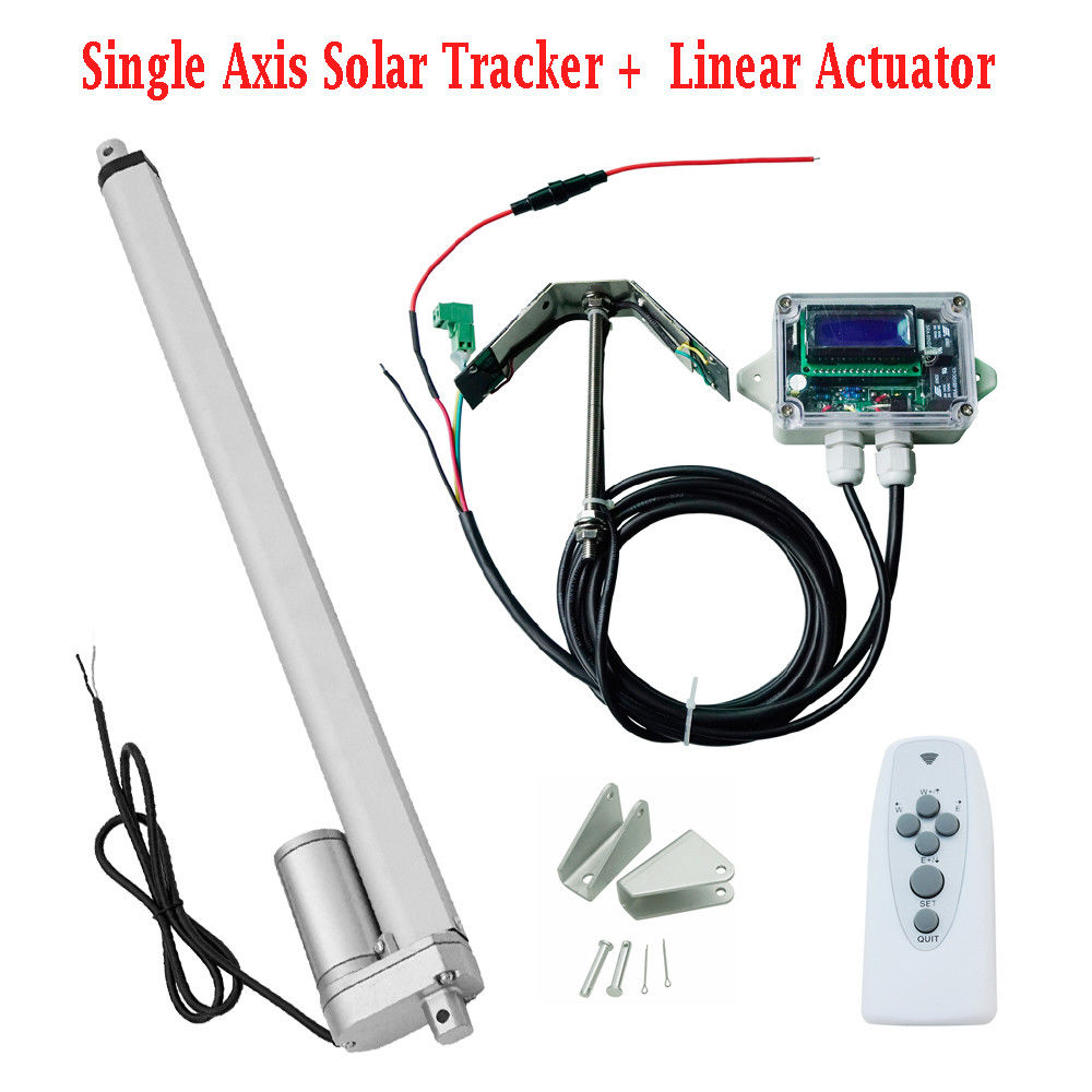 1KW 12V Single Axis Solar Tracker System Kit 12 Linear Actuator Controller