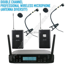 MICWL D220i 2 Instrument Wireless Microphone System for Percussion instrument Orchestral Saxophone piano violoncello violin etc.