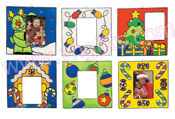 paint unfinished christmas photo frame sun catcherchristmas tree ornamentchristmas crafts6 design13x7cm