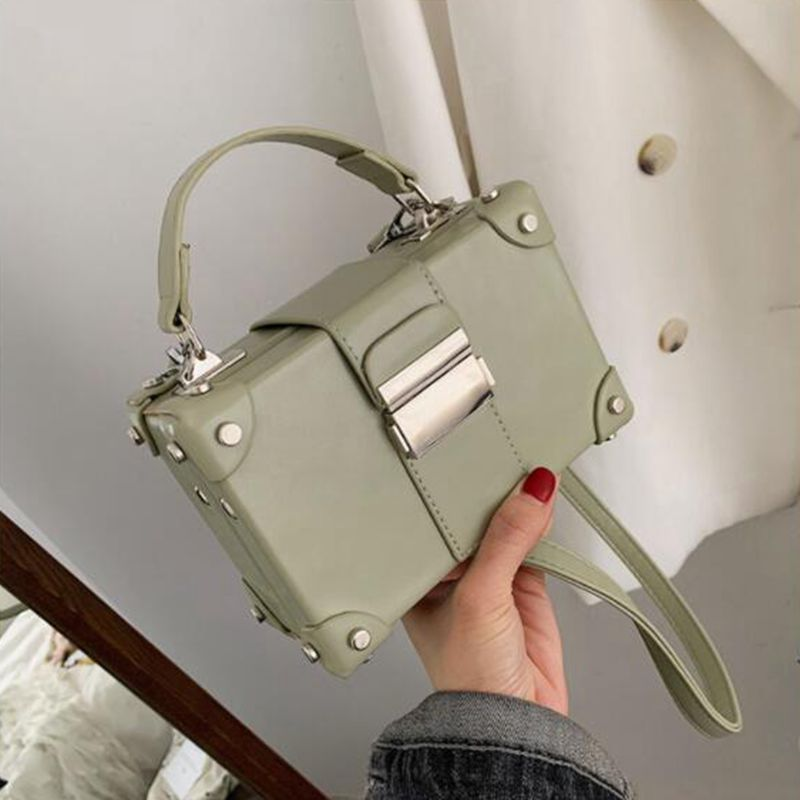 2019 New Portable Box Bag Korean Unique Design Handbag Wild Crossbody Shoulder Bag Slung Small Women Messenger Square Bag Z-204
