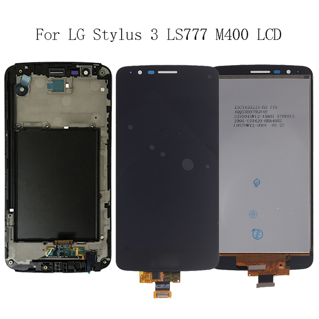 """5.7"""" AAA For LG Stylus 3 LS777 M400 M400DF M400N M400F M400Y LCD Display Touch Screen with Frame Repair Kit Replacement+Tools"""