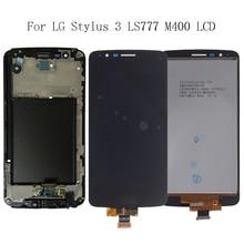 """5.7 """"AAA Per LG Dello Stilo 3 LS777 M400 M400DF M400N M400F M400Y Display LCD Touch Screen con Telaio di Riparazione kit di Ricambio + Strumenti"""